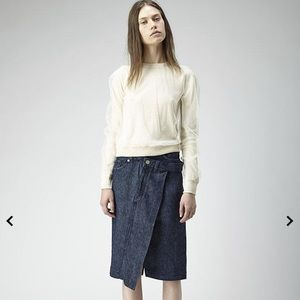 Acne Studios Lia Tulle Pullover top  off white